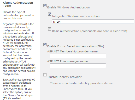 Easiest way to setup Form Based Authentication with Active